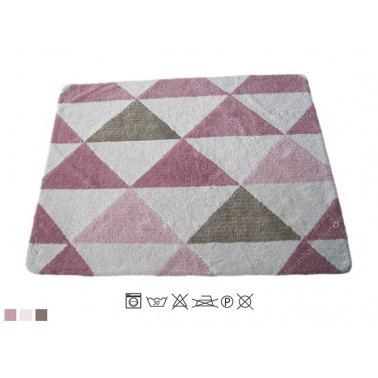 ALFOMBRA LAVABLE TRIANGULO ROSA OSCURO - NO DISPONIBLE EN DEMARQUES.ES