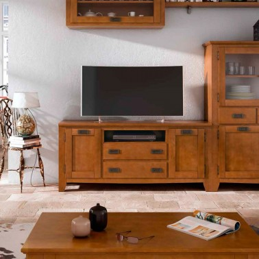 MUEBLE TV COLONIAL 2 PUERTAS Y 2 CAJONES BORNEO