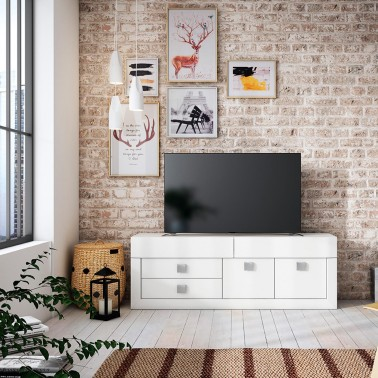 MUEBLE TV COLONIAL YAKARTA 160 CM BLANCO