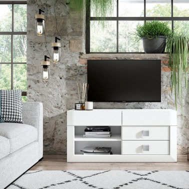 MUEBLE TV COLONIAL YAKARTA 120 CM BLANCO