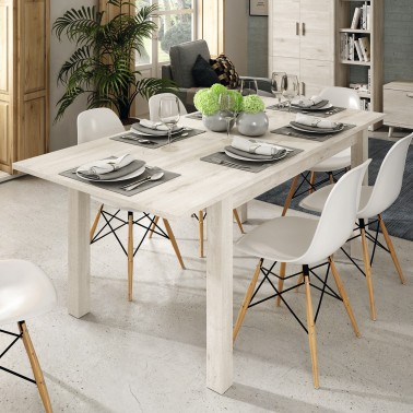 MESA DE COMEDOR RECTANGULAR EXTENSIBLE CHRONOS