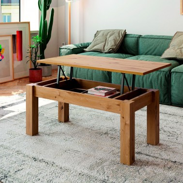 MESA DE CENTRO ELEVABLE NEO ROBLE NATURAL