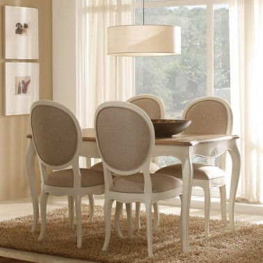 MESA DE COMEDOR EXTENSIBLE PROVENZAL PARIS BICOLOR