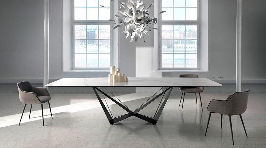 Tendencias en mesas de comedor para 2018 blog de - Mesas de marmol y cristal ...