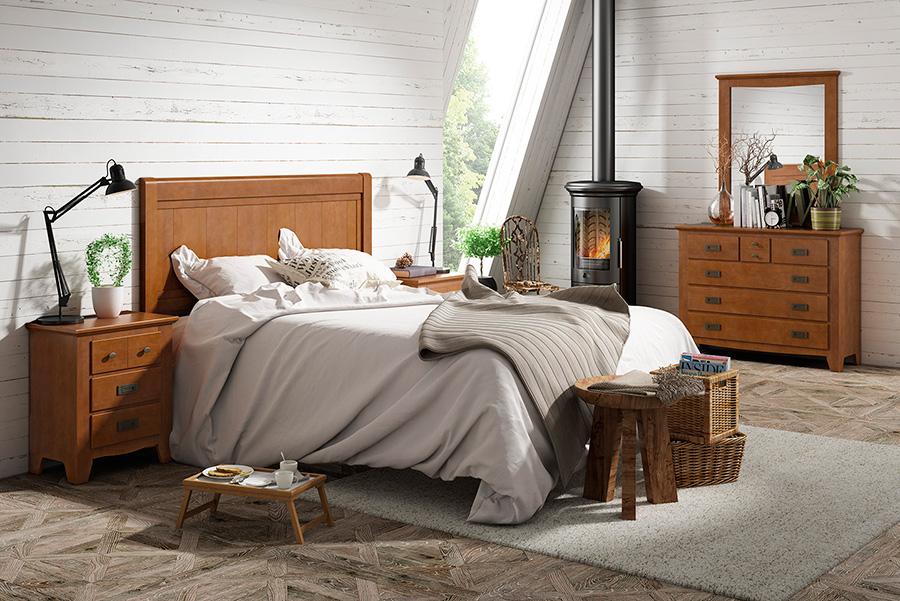 Elegante calidez para tu dormitorio con un cabecero de - Cabeceros de madera baratos ...