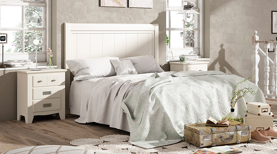 Mesillas de noche la pareja ideal de tu cabecero blog - Dormitorio colonial blanco ...