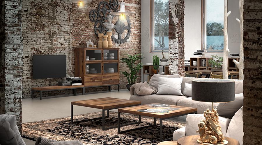 Claves para decorar tu casa con un estilo industrial - Salon estilo industrial ...
