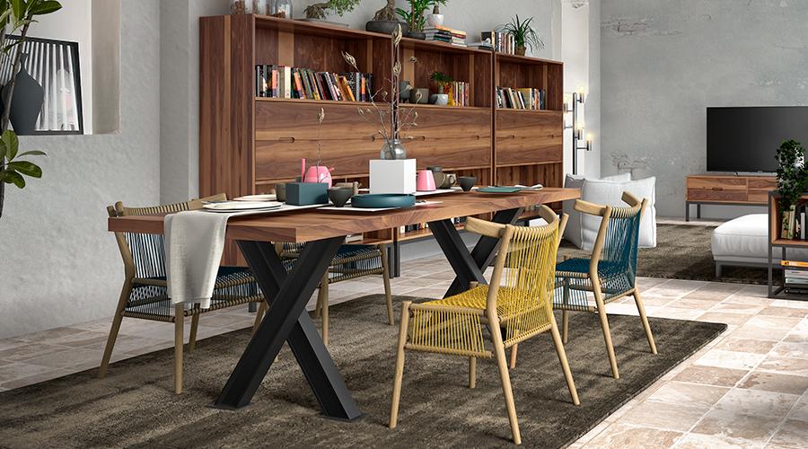 mesa de comedor industrial Loft