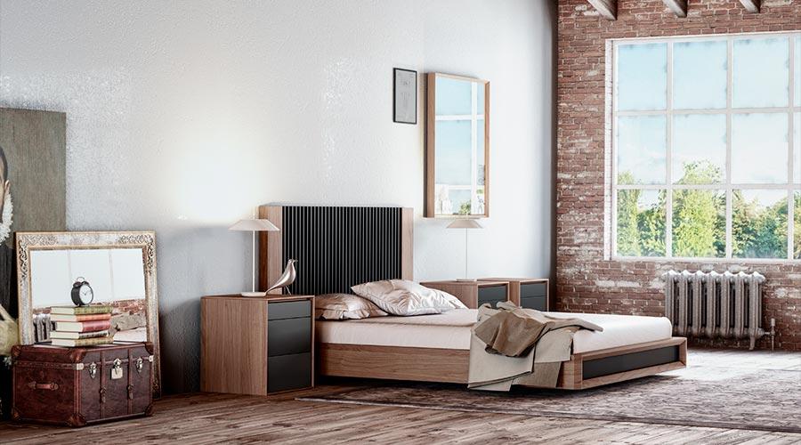 Los muebles de dormitorio de madera transmiten calidez a la estancia
