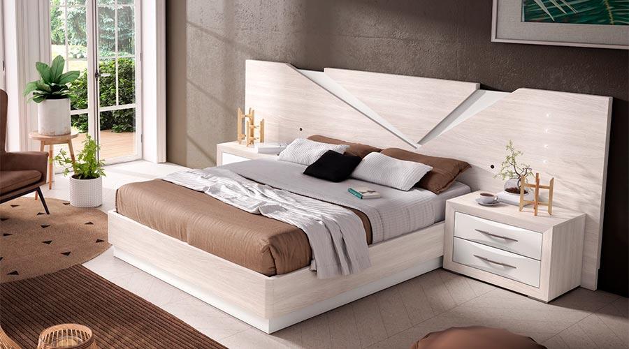 Dormitorio de matrimonio moderno blanco