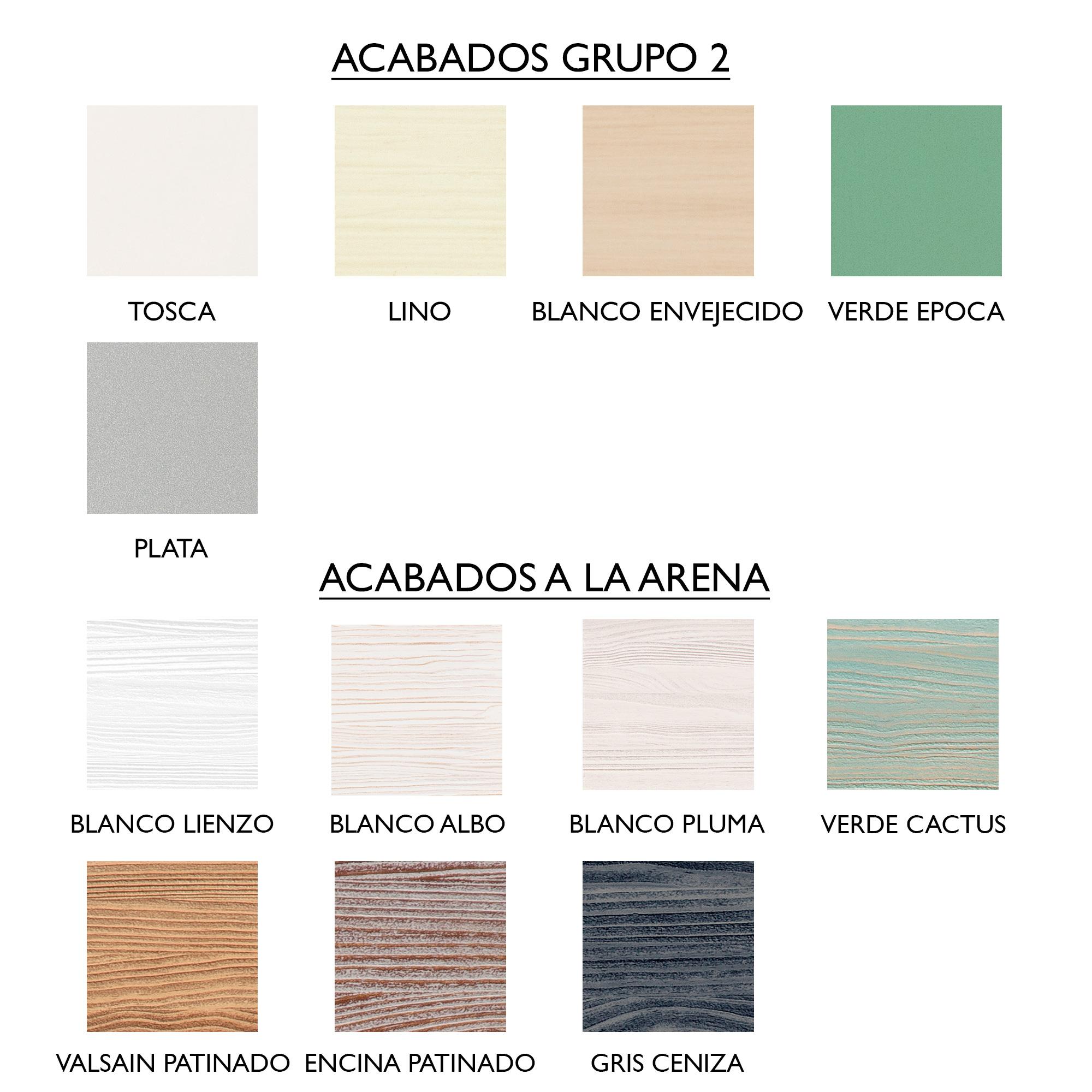 ACABADOS GRUPO 2 Y A LA ARENA