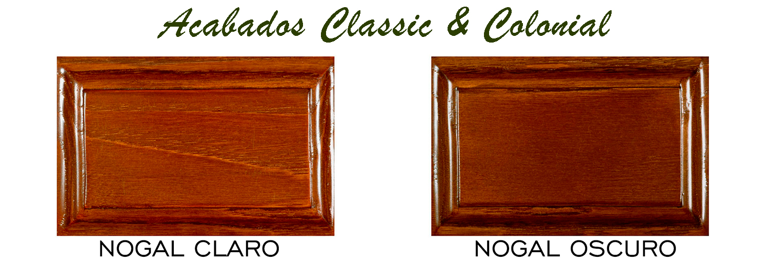 Acabados madera coleccion classic and colonial