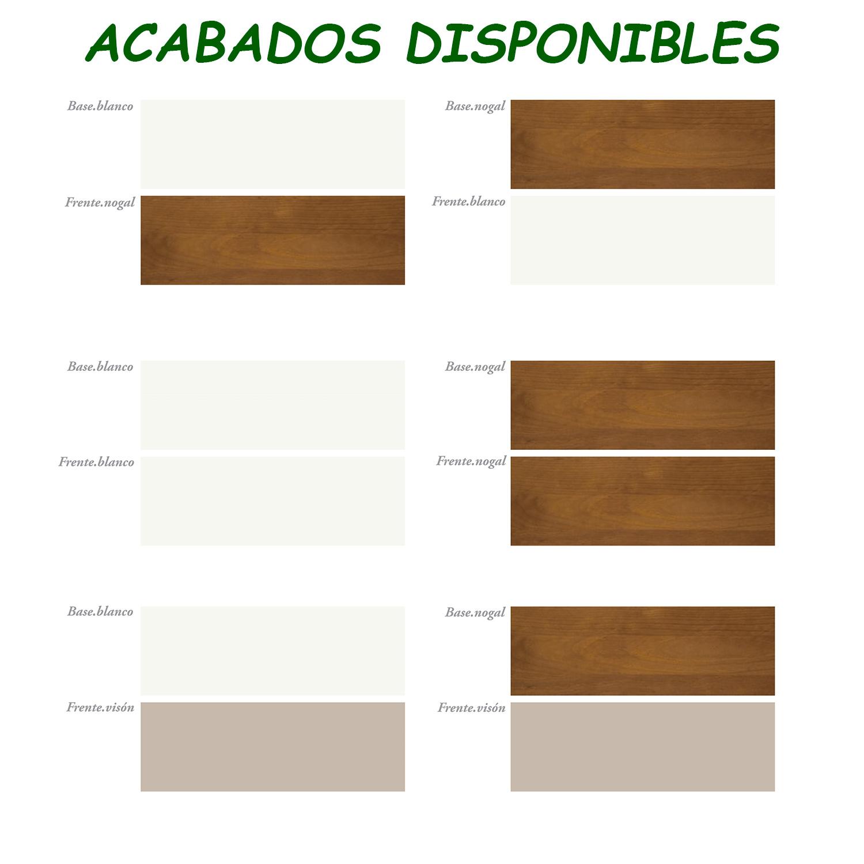 Madera de pino - acabados disponibles